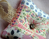 Polly the Pin Up Pink Patchwork Vintage Fabric Pincushion Original
