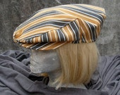 Striped Denim Newsboy Cap A100
