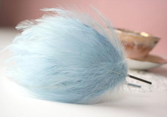 Clearance Sale Something Blue Feather Fascinator Headband