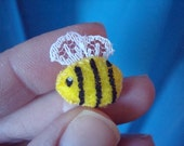 Miniature Plush Toy Bee Cute Kawaii Mini Bumblee Bee Honey Bee Teeny Tiny Micro Mini Stuffed Animal