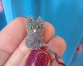 Micro Mini Tiny Kitty Miniature Stuffed Toy Cute Cat Plush Teeny Tiny Kitten Dollhouse