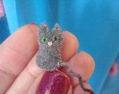 Micro Mini Tiny Kitty Miniature Stuffed Toy Cute Cat Plush Teeny Tiny Kitten Dollhouse