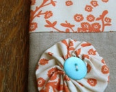 Orange Blossom Zipper Pouch