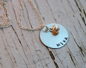 CUSTOM NAME stamped necklace