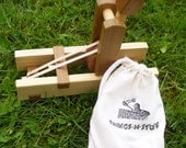 Wooden Toy, Waldorf, Catapult, Game