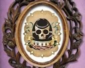 Betty Page Skull Girl 8x10 print flash tattoo imagery