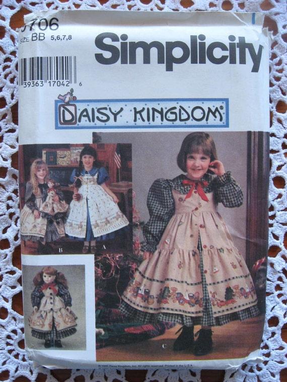 Simplicity 9706 - Daisy Kingdom Dress Pattern - Sizes 5, 6, 7, 8 - Uncut