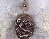SALE - Fine Silver Cherry Blossom Necklace