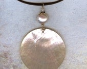 Mother of Pearl Leather Choker