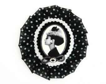 Audrey Hepburn Cameo -  Brooch