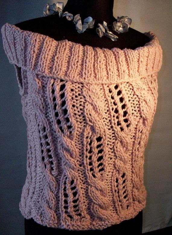 PINK   SUMMER  TOP // cotton yarn