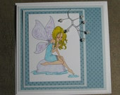 SITTING ANGEL - Any Occasion Card - RESERVED FOR KRISHENKA