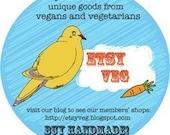 EtsyVeg Team Promotional Stickers (10)