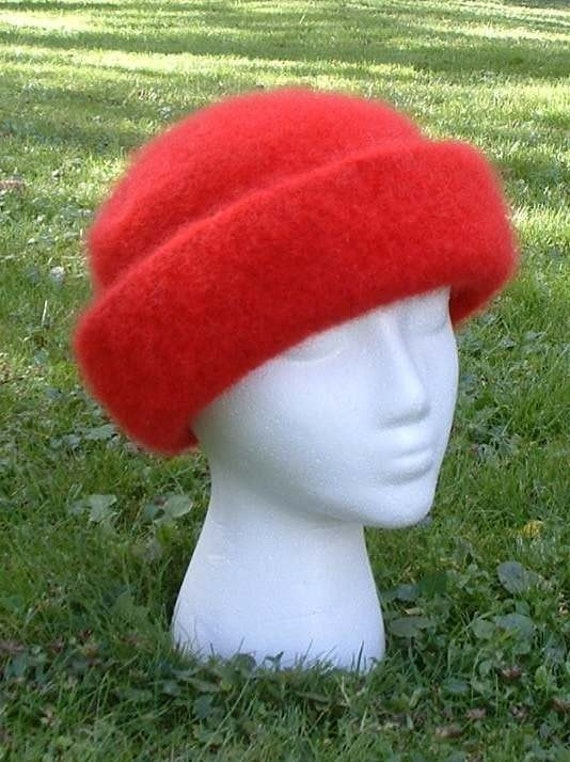 High Brim Felted Knit Hat Pattern PDF by pollywogs on Etsy