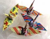 Tribal Flock Peace Crane Wedding Cake Topper Party Favor Origami Christmas Ornament Japanese Bird Good Deal Set