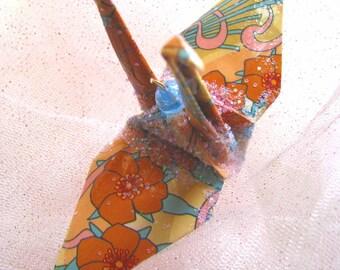 Alphonse Mucha Peace Crane Wedding Cake Topper Party Favor Origami Ornament Christmas Decoration Art Nouveau Bird Paper 1st Anniversary