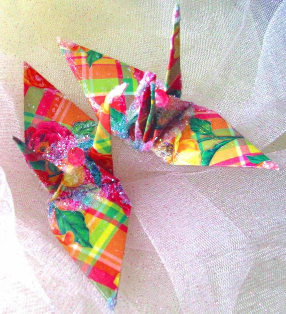 Judy Chicago Peace Crane Bird Wedding Cake Topper Party Favor Origami Christmas Ornament Anniversary Place Card Holder Table Decoration