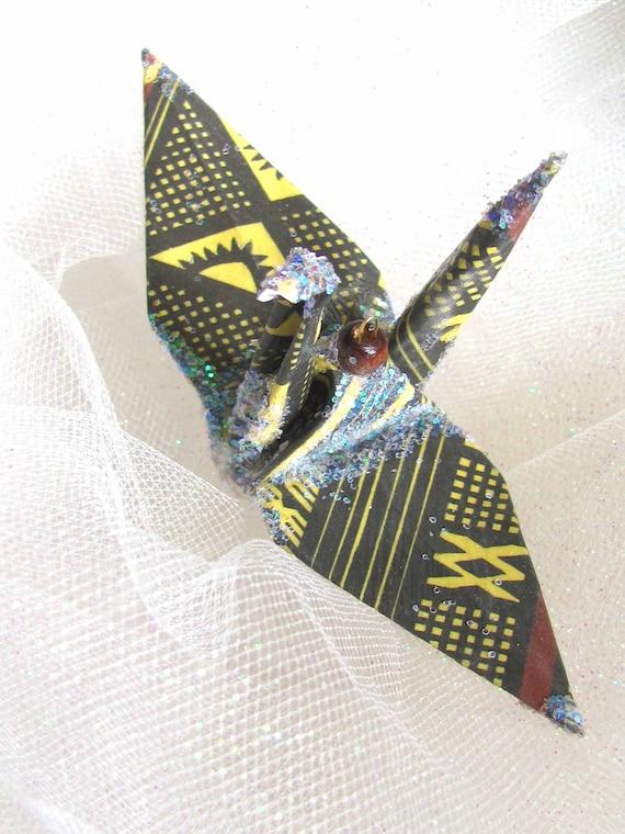 african flock peace crane wedding cake topper favor origami