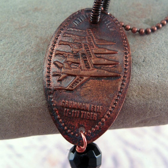 Pressed Penny Necklace Grumman Super Tiger