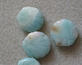 Blue Jade Shell Beads