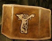 Celtic Dog - Trifold Leather Wallet