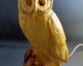 Wooden Owl Luminary