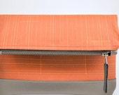 Fold Over Clutch in Deep Orange Eco friendly