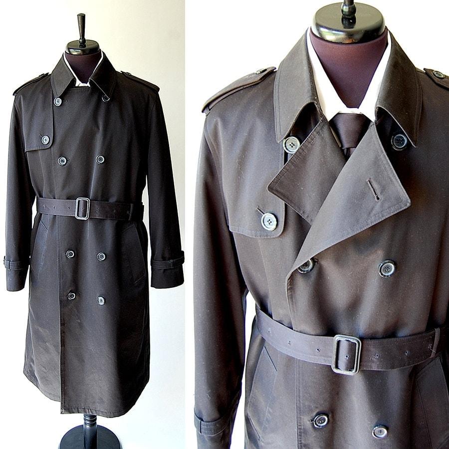 Oleg Cassini Classic Vintage Mens Trench Coat By