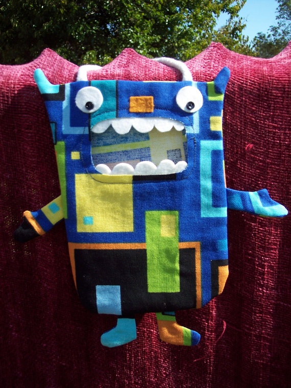Zane a Mini Candy Monster Bag/ Eco Friendly Trick or Treat Bag