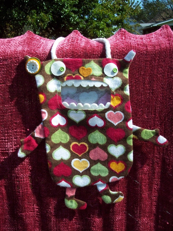 Lovey a Mini Candy Monster Bag/Eco Friendly Trick or Treat Bag