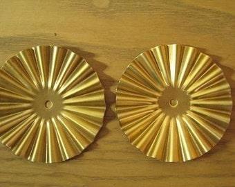 Only 3 Sets Left-2 Large Vintage Brass Stamping Setting