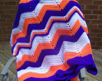 Oversize Ripple Afghan