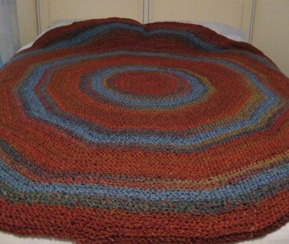 Afghan - Round Crochet