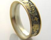 14k gold, sterling silver, 18k gold,  fused ring