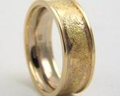 palladium white gold and yellow gold ring, wedding band size 9