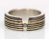 Man's champagne diamond ring size 9