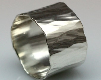 silver water ring, sizes 9-12
