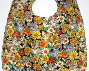 Baby Bib: Kittens and Cats and Flowers
