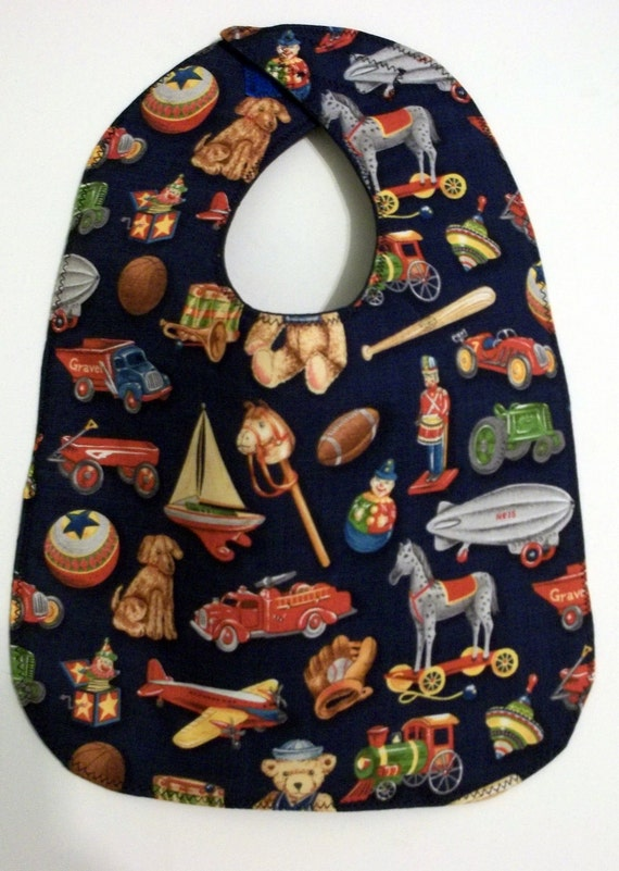 Baby Bib:  Retro Toys from the Toybox