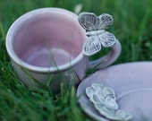 Butterfly Bush is really Lilac Espresso Cup and Saucer Set.