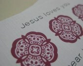 HateMail Minis --- Jesus Loves You --- Set of 10