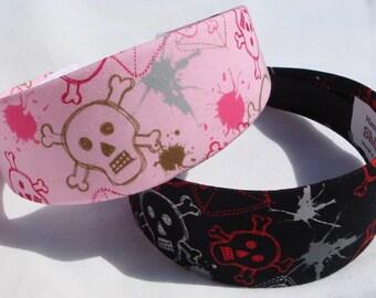 Splatter Skull And Crossbones Headband