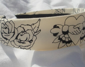 Tattoo Parlor Headband Hairband Traditional Tattoo