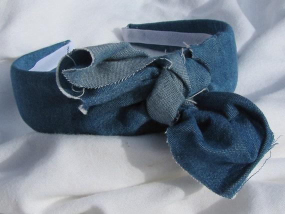 Messy Knot Denim Headband