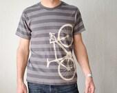 Medium - Vital Bicycle - Men's striped bike tee, discharge