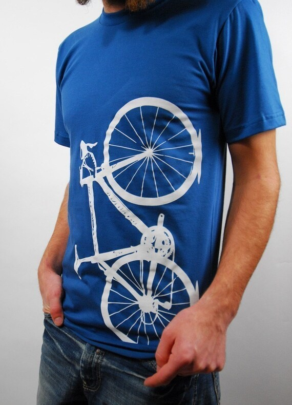 organic cotton bicycle shirt, galaxy - medium