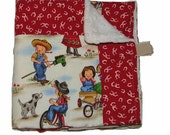 Clearance Cowgirl  Minky Boutique Baby Blanket Ready to Ship