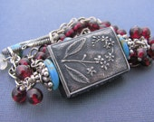 Forget Me Not Garnet and Howlite Anne Choi Focal Necklace