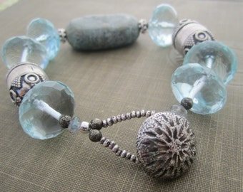Into the Wild Turquoise and Glass Bracelet