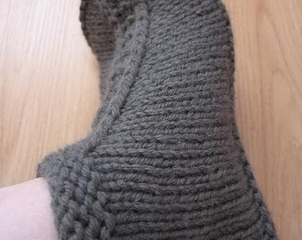 Knitting Pattern PDF - Comfy Handknit Slippers